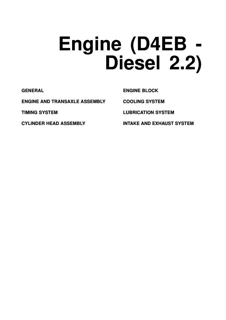 engine repair diagram santa fe d4eb engine repair manual pdf  6 78 mb   santa fe d4eb engine repair manual pdf